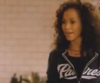 Lena in padres hoodie