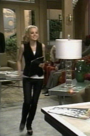 Please note the relative width of Kirsten Storms' thigh, and the lamp: